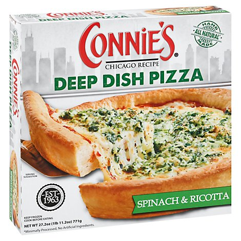 Connies Deep Dish Spin Garlic Ricot - 27.2 OZ