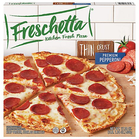 Freschetta Thin Crust Pizza Pepperoni - 17.96 OZ