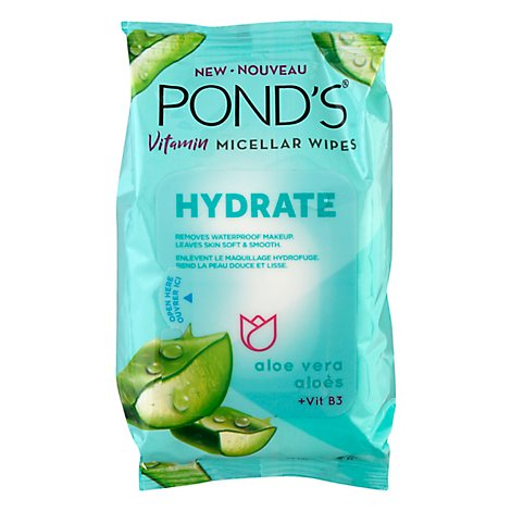 Ponds Face Care Hydrate Facial Wipe - 25 CT