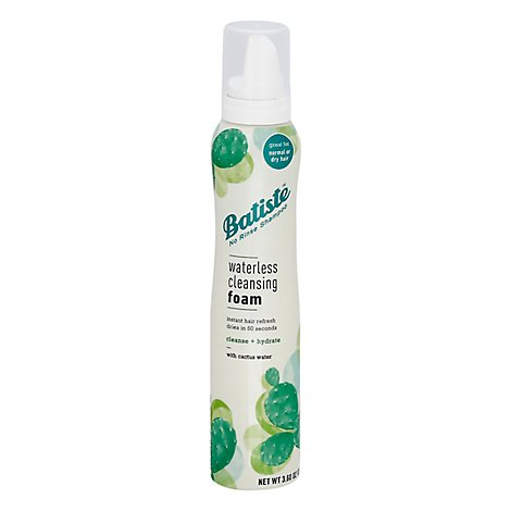 Batiste Waterless Hair Cleansing Foam Plus Hydrate - 3.6 OZ