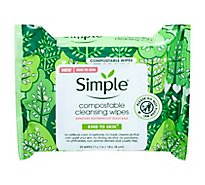 Simple Facial Cleansing Compostable Wipes - 25 CT