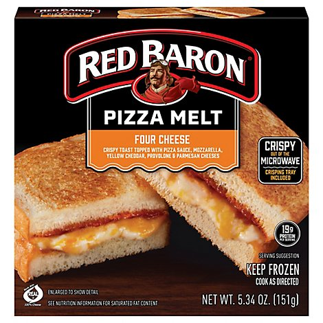 Red Baron Pizza Melt Pizza 4 Cheese - 5.34 OZ