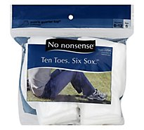 Nn Socks Mens Quarter Top 6-12 - 6 PR