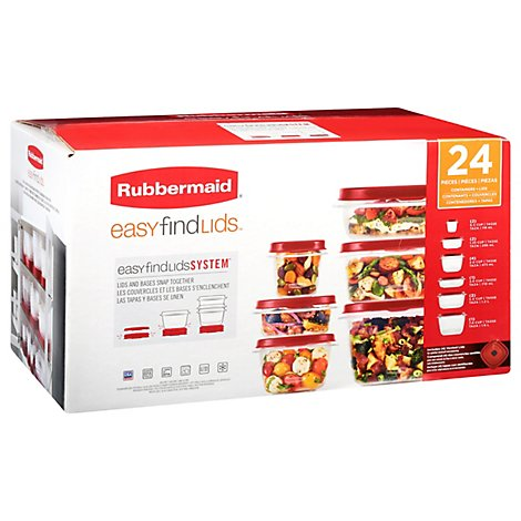 Rubbermaid Easy Find Lid 24 Pc Set - EA