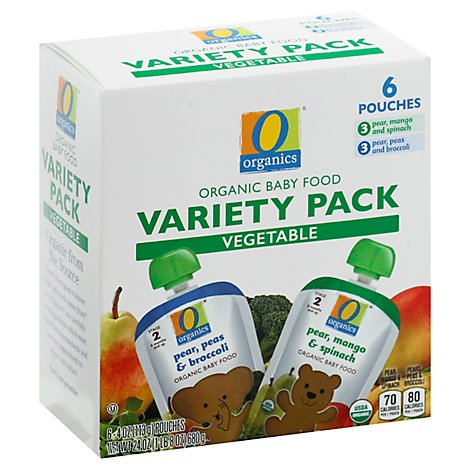 O Organics Baby Fd Vegetable Variety Pk Pouch - 6-4 OZ
