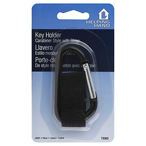 Helping Hand Carabiner Style Key Holder With Strap - EA