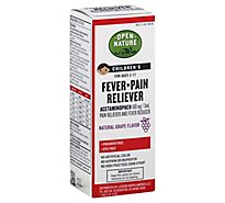 Open Nature Pain & Fever Relief Child Grape - 4 FZ