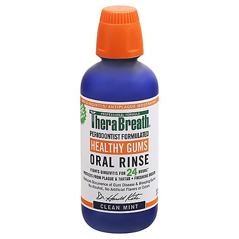 Therabreath Healthy Gums Oral Rinse Clean Mint - 16 OZ