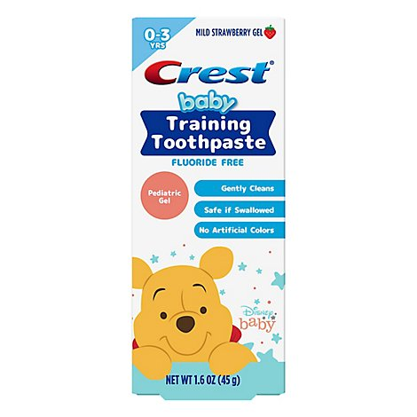 Crest Training Toothpaste Winnie The Pooh Mild Strawberry Gel - 1.6 OZ