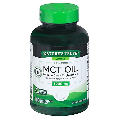 Natures Truth Mct Oil Softgels 1200mg - 100 CT