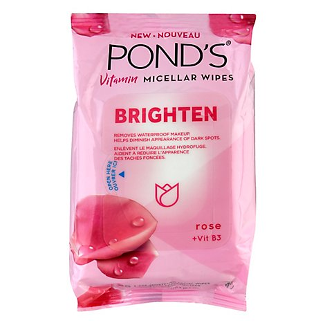 Ponds Brighten Face Wipes - 25 CT