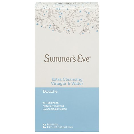 Summers Eve Douche Extra Cleansing Twin Pack - 2-4.5 FZ