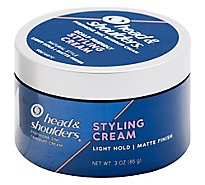 Head & Shoulders Styling Cream Matte Finish Light Hold - 3 Oz