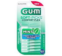 Gum Soft Pick Comfort Flex Mint - 80 CT