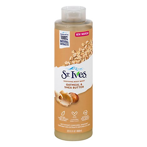 St Ives Oat & Shea Butter Body Wash - 22 FZ