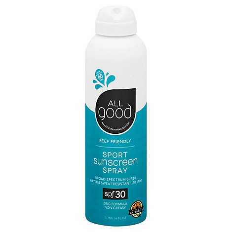 All Good Sport Sunscreen Spf30 Spray - 6 FZ