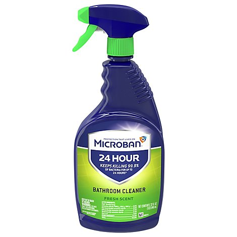 Microban Bathroom Cleaner And Sanitizing Spray 24 Hour Fresh Scent - 32 Fl. Oz.