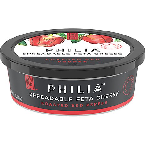Philia Spreadable Cheese Feta Roasted Red Pepper - 7 Oz