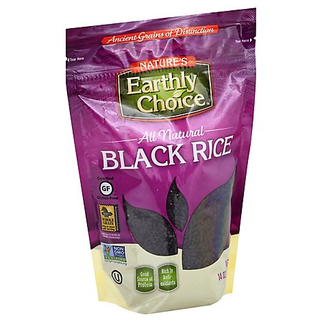 Natures Earthly Choice Rice Black - 14 OZ