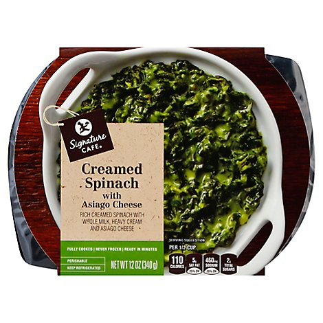 Signature Cafe Savory Asiago Creamed Spinach Side Dish - 12 OZ