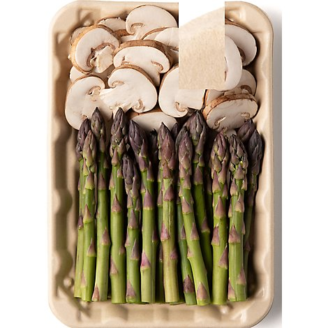 Plated Asparagus And Mushrooms - 8.5 OZ