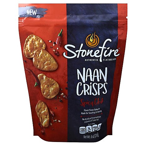 Stonefire Spicy Chili Naan Crisps - 6 OZ
