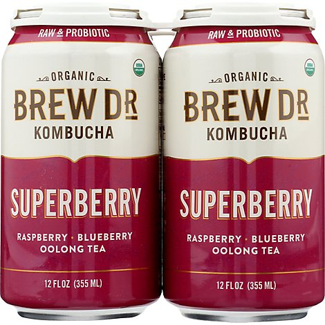 Brew Dr Kombucha Superberry - 4-12 FZ