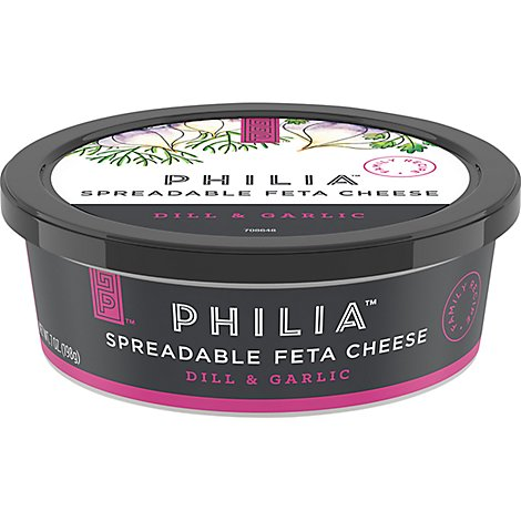 Philia Spreadable Cheese Feta Dill & Garlic - 7 Oz