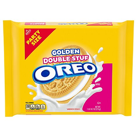 Oreo Double Stuff Golden Party Size - 26.7 OZ