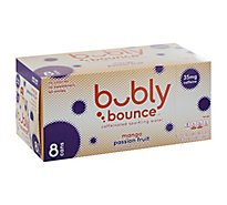 Bubly Bounce Sparkling Water Caffeinated Mango Passion Fruit - 8-12 Fl. Oz.