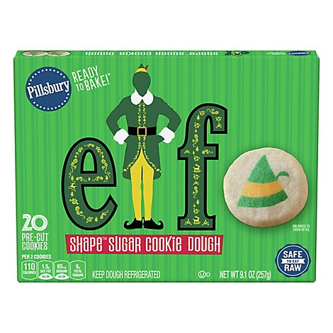 Pillsbury Ready To Bake Elf Shape Sugar Cookie Dough - 9.1 OZ