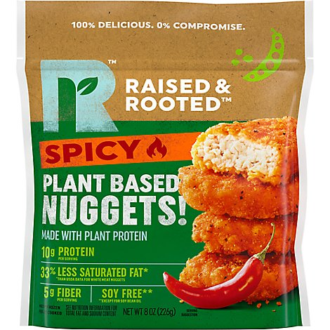 Raised & Rooted Spicy Nuggets Made With Plants - 8 OZ