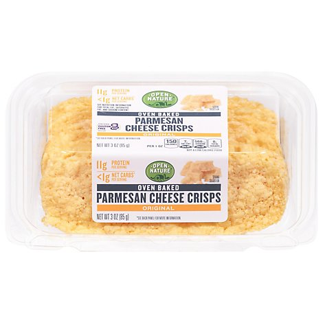 Open Nature Cheese Crisp Parmesan Original - 3 OZ