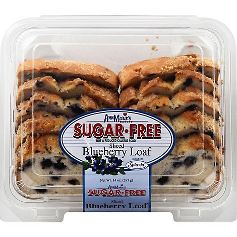 Ann Maries Sugar Free Sliced Blueberry Loaf - 14 OZ