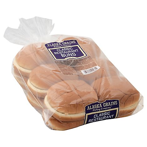 Alaska Grains 5 Inch Hamburger Bun 12 Pack - 32 OZ