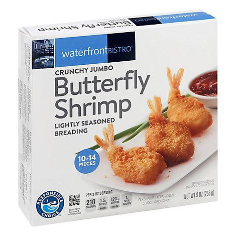 Waterfront Bistro Jumbo Crunchy Butterfly Shrimp - 9 OZ