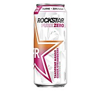Rockstar Pure Zero Energy Drink Tangerine Mango Guava Strawberry - 16 FZ