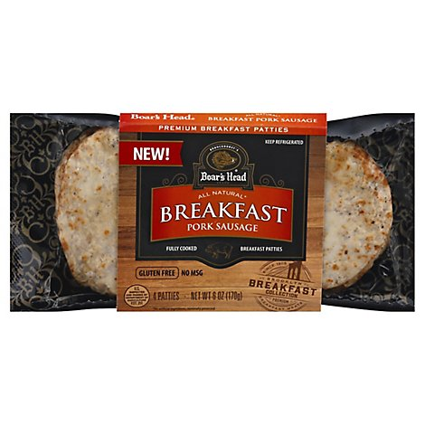 Bh Pork Breakfast Sausage Patties - 6 OZ