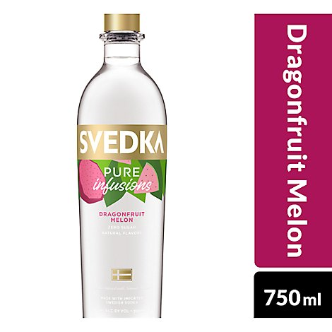SVEDKA Pure Infusions Vodka Dragonfruit Melon 60 Proof - 750 Ml