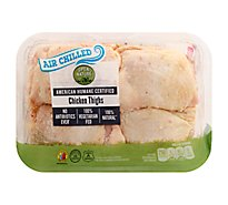 Open Nature Chicken Thighs Bone-in Air Chill - 2.00 Lb