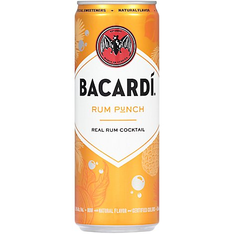 Bacardi Rum Punch Cans - 4-12 FZ