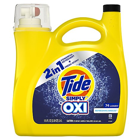 """Tide Simply +Oxi Liquid Laundry Detergent"