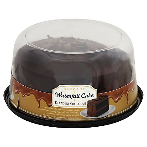 Decadent Chocolate Waterfall 2 Later Cake 7 Inch - EA