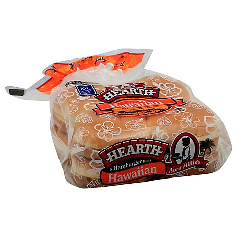 Aunt Millies Hearth Hawaiian 8ct. Hamburger Bun - 17 OZ