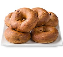 In-store Bakery Bagels Cinnamon Raisin 6 Count Pb - EA