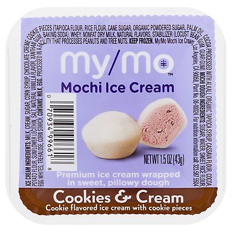 My/mo Mochi Ice Cream-cookies & Cream - 1.5 OZ