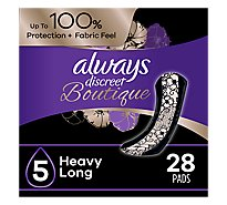 Always Discreet Boutique Pads Heavy Absorbency Long - 84 Count