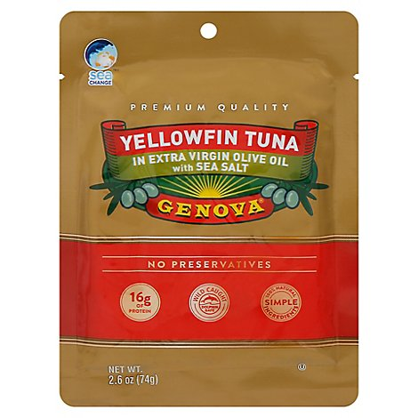 Genova Yellowfin Tuna In Extra Virgin Olive Oil With Sea Salt - 2.6 OZ