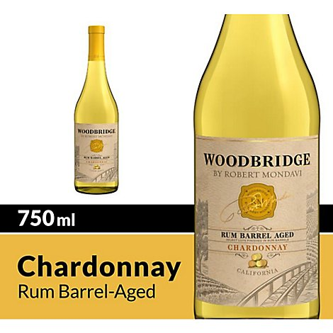 Woodbridge by Robert Mondavi Wine White Rum Barrel Aged Chardonnay - 750 Ml