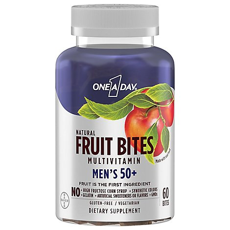 Oad Fruit Bites Mens 50 Plus - 60 CT